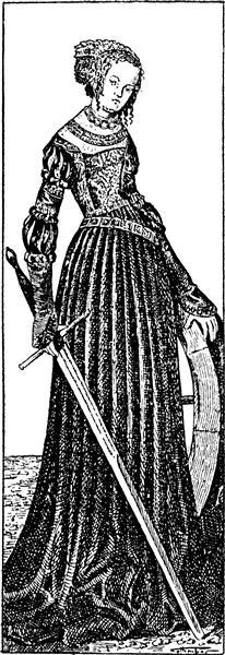 St. Catherine - Cranach the Elder Lucas