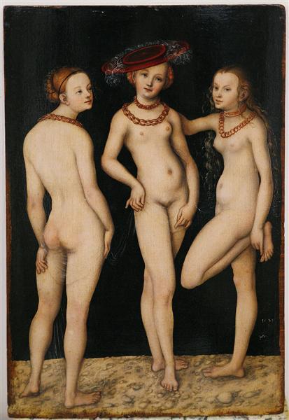 Drei Grazien, 1531 - Lucas Cranach der Ältere