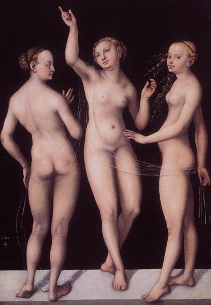 The Three Graces, 1535 - Lucas Cranach der Ältere