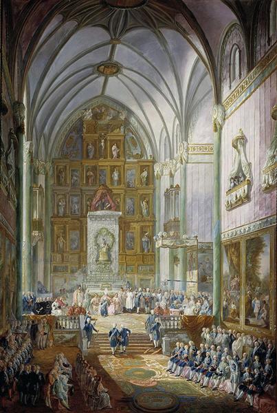 Jura de Fernando VII como príncipe de Asturias, 1791 - Luis Paret y Alcazar