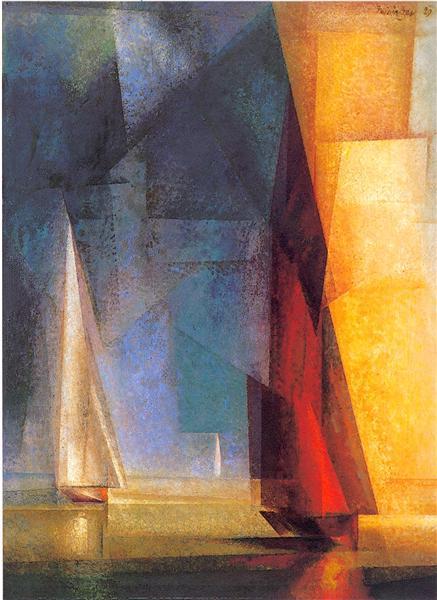 Stiller Tag am Meer III, 1929 - Lyonel Feininger
