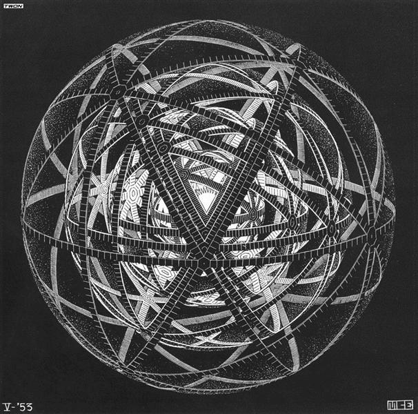Concentric Rinds, 1953 - M.C. Escher