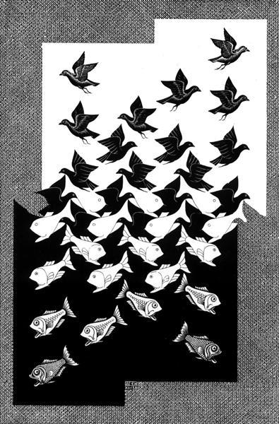 Sky and Water II, 1938 - M.C. Escher
