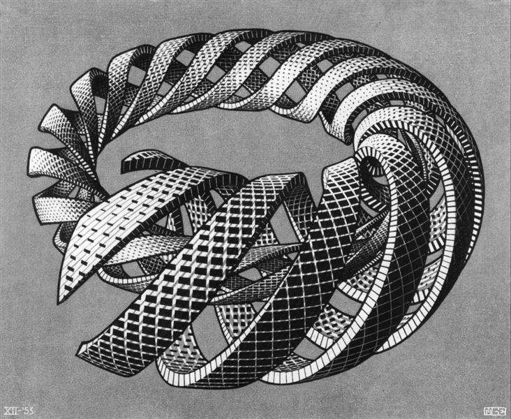 Спіралі, 1953 - Мауріц Корнеліс Ешер