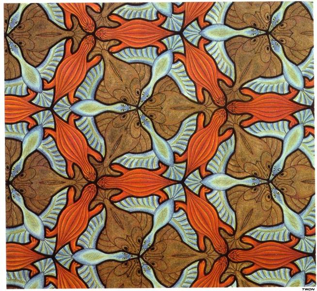 Symmetry Drawing, 1948 - M.C. Escher