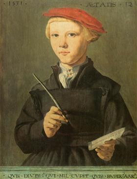 Portrait of a young scholar - Maerten van Heemskerck