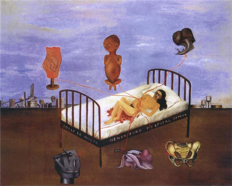 Henry Ford Hospital (The Flying Bed), 1932 - Frida Kahlo
