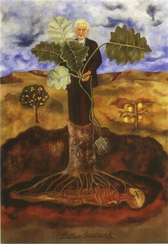 Portrait of Luther Burbank - Frida Kahlo