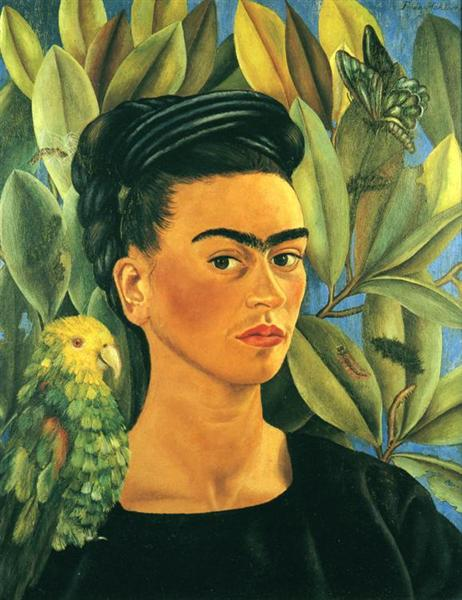 Self-Portrait with Bonito, 1941 - Frida Kahlo