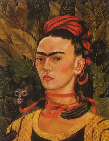 Self Portrait with Monkey, 1940 - Frida Kahlo