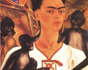 Self Portrait with Monkeys - Frida Kahlo