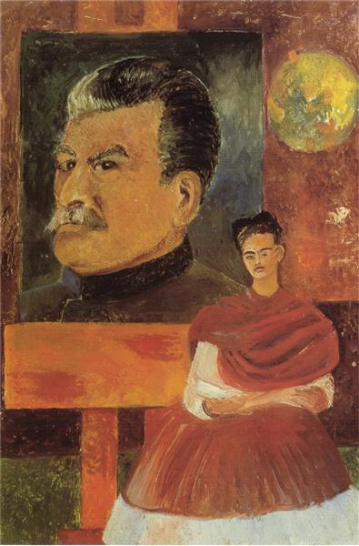 Self Portrait with Stalin, 1954 - Frida Kahlo
