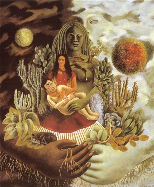 The Love Embrace of the Universe, the Earth (Mexico), Myself, Diego and Señor Xólotl, 1949 - Frida Kahlo