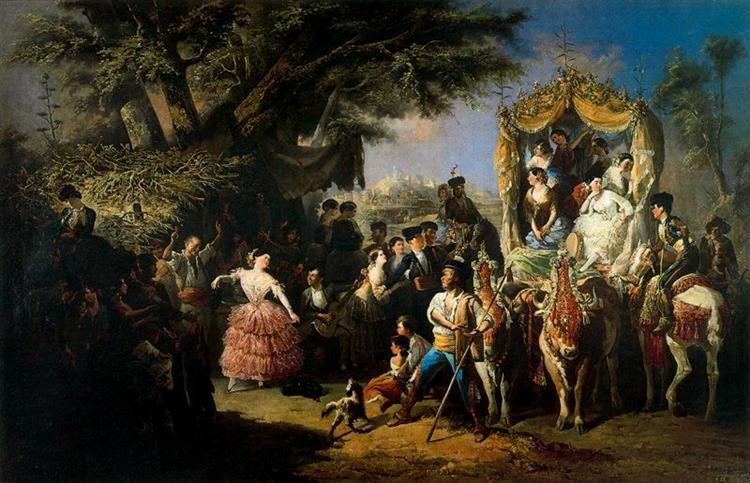 La feria de Santiponce, 1855 - Manuel Rodriguez de Guzman