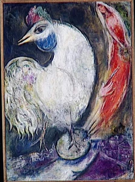 A rooster - Marc Chagall
