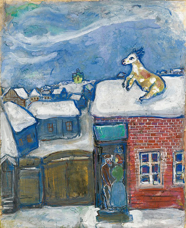 A village in winter, 1930 - Marc Chagall - WikiArt.org