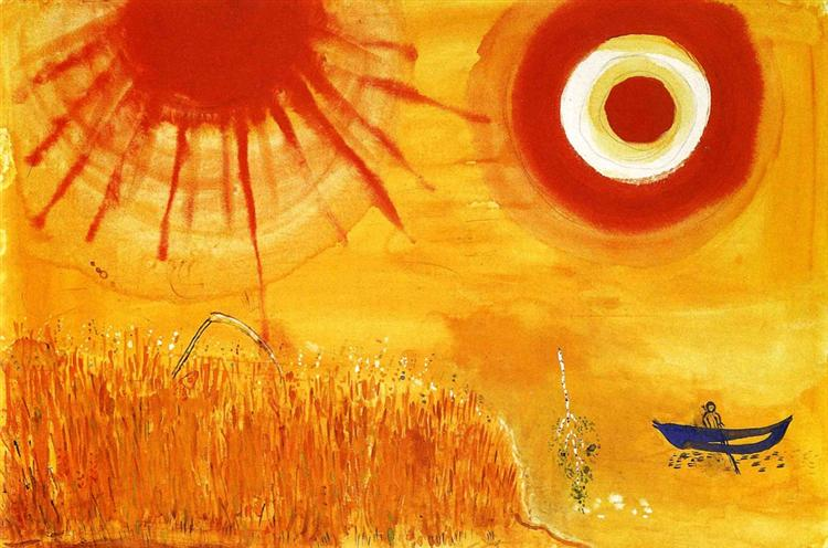 A wheatfield on a summer's afternoon, 1942 - Marc Chagall