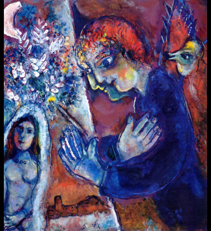 Artist At Easel C 1965 Marc Chagall Wikiart Org