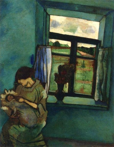 Bella and Ida by the Window, 1916 - Marc Chagall