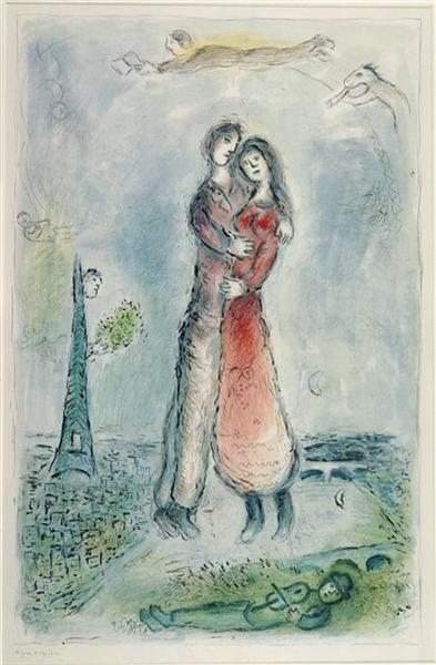 Happiness, 1980 - Marc Chagall
