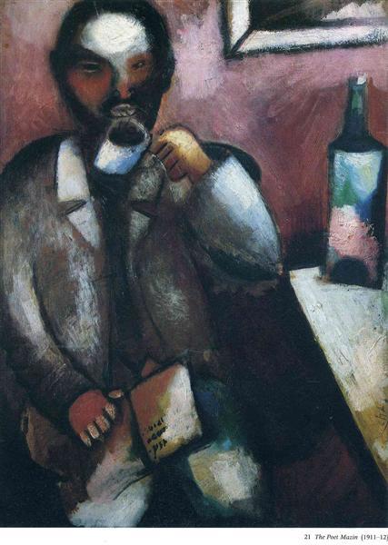 Mazin, the Poet, c.1912 - Marc Chagall
