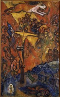 Marc Chagall - 1018 paintings, designs and sculptures ... Chagall Crucifixion