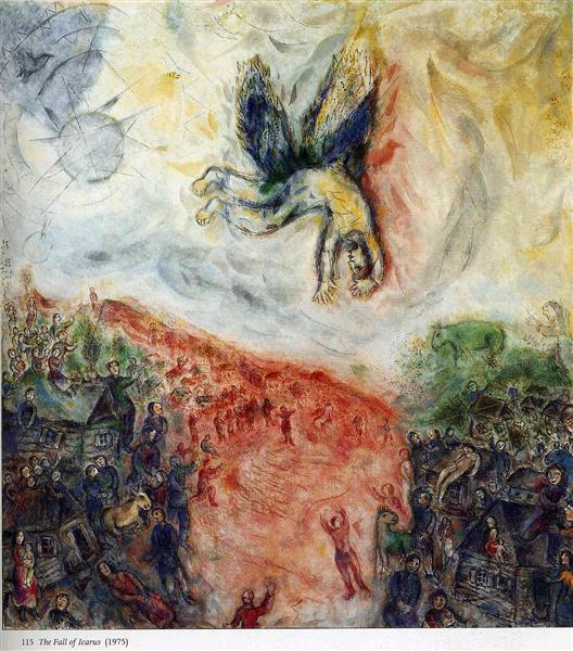 The Fall of Icarus, 1975 - Marc Chagall