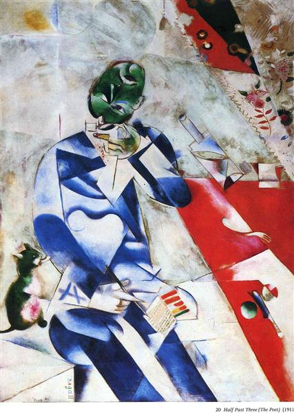 The Poet, or Half Past Three, 1911 - 1912 - Marc Chagall