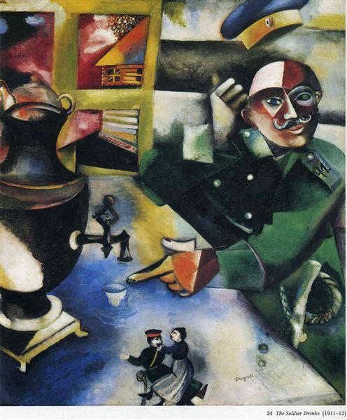 The Soldier Drinks, 1912 - Marc Chagall