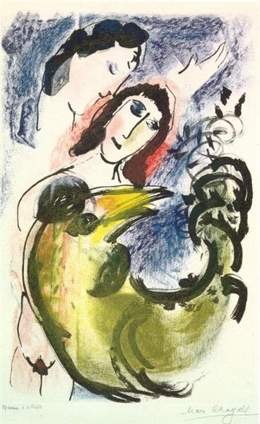 The yellow rooster, 1960 - Marc Chagall