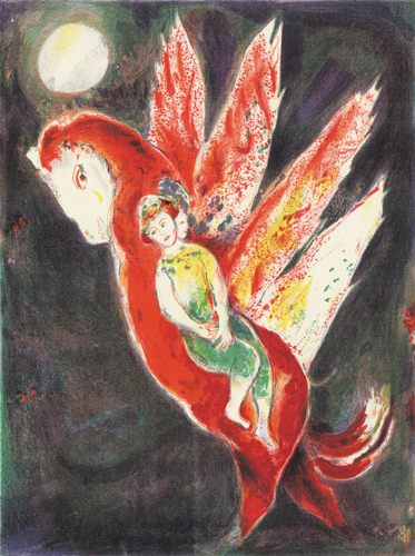 Then the old woman mounted on the Ifrit's back..., 1948 - Marc Chagall