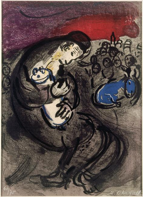 Weeping of Jeremiah, 1956 - Marc Chagall - WikiArt.org Chagall Gouaches Jeremia