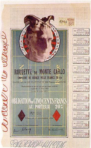 Monte Carlo bond, 1924 - 馬塞爾·杜象
