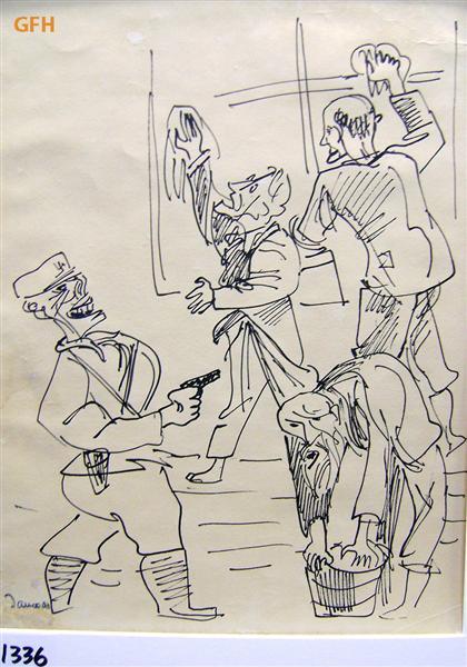 [Jews] Forced to Wash Windows, 1941 - Marcel Janco
