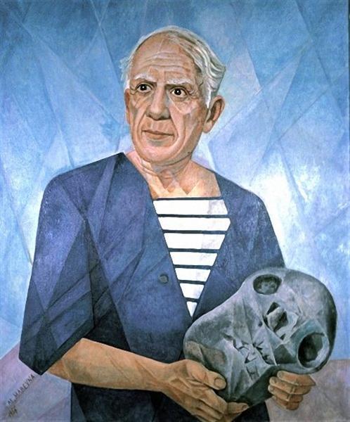 Portrait of Pablo Picasso, 1956 - Marevna (Marie Vorobieff)