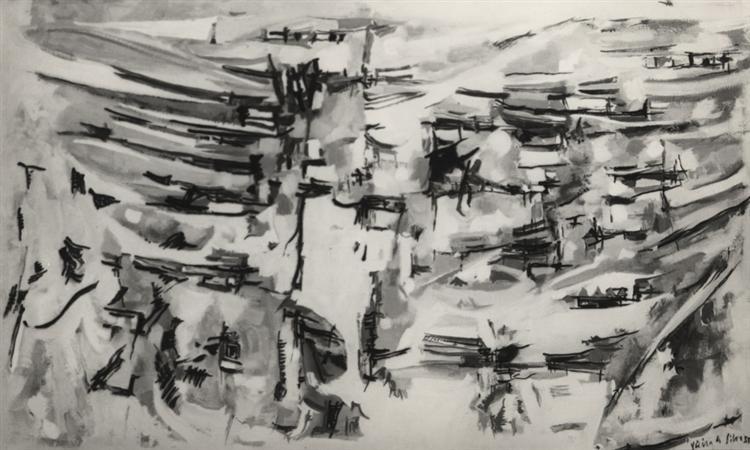 Composition, 1955 - Maria Helena Vieira da Silva