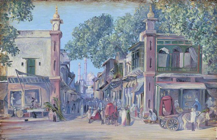 The Street of Blood, Delhi, 1880 - Marianne North