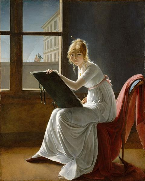 Young Woman Drawing, 1801 - Marie-Denise Villers