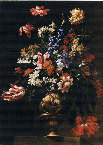 Still life with a vase of flowers - Mario Nuzzi