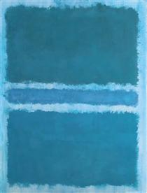 Untitled (Blue Divided by Blue) - Mark Rothko