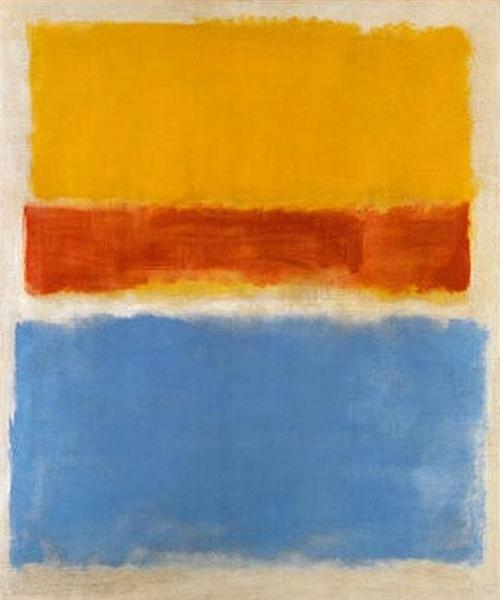 Untitled (Yellow, Red and Blue), 1953 - Mark Rothko