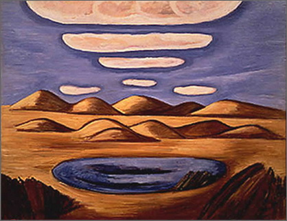 Large Country—Petrified Sand Hills, 1932 - Marsden Hartley
