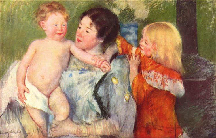 After thebath, c.1901 - Mary Cassatt