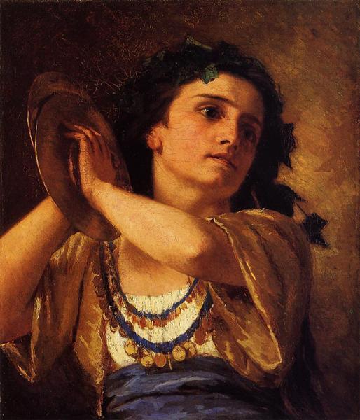 Bacchante, 1872 - Mary Cassatt