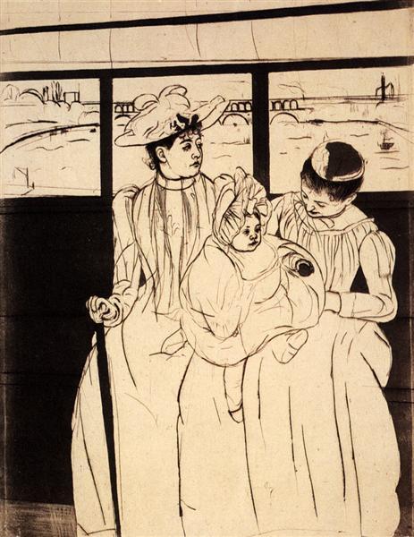 In The Omnibus, c.1891 - Mary Cassatt