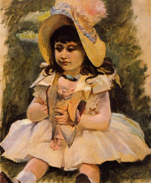 Little Girl with a Japanese Doll, c.1892 - Mary Cassatt