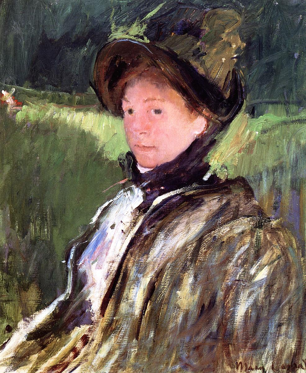 Lydia Cassatt in a Green Bonnet and a Coat - Mary Cassatt ...