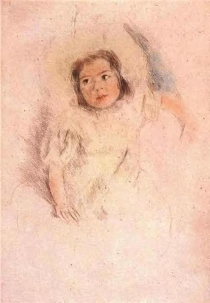 Margot Wearing a Bonnet, c.1903 - Mary Cassatt