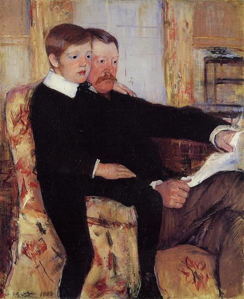 Portrait of Alexander J. Cassat and His Son Robert Kelso Cassatt, 1884 - 1885 - Mary Cassatt