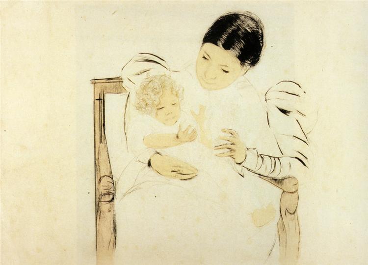 The Befooted Child, 1898 - Mary Cassatt
